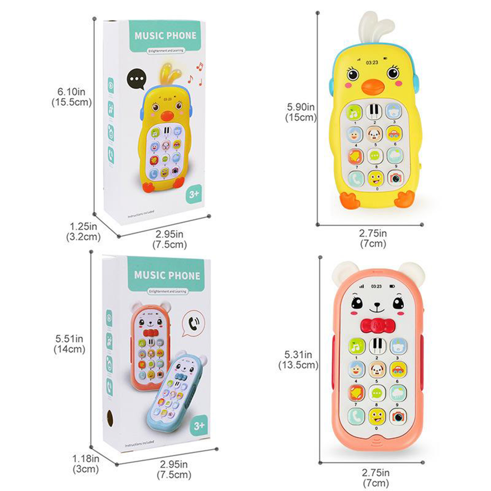 Baby Phone Toy Mobile Telephone Early Educational Learning Machine Kids Gifts Telephone Music Sound Machine Electronic Baby Toys