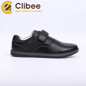 CLIBEE Boy Uniform School Sneaker Kids Casual Shoes with Arch Support Leather Insole Children's Breatheable Dress Walking Shoes
