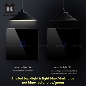 Image 2 - Настенный светильник EU 1 2 3 Gang 2 Way для домашней автоматизации, сенсорный переключатель для лестницы внутри/снаружи, переключатель управления, стеклянная панель