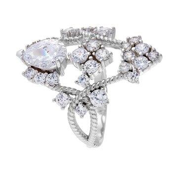 Кольцо из серебра с фианитами R01255