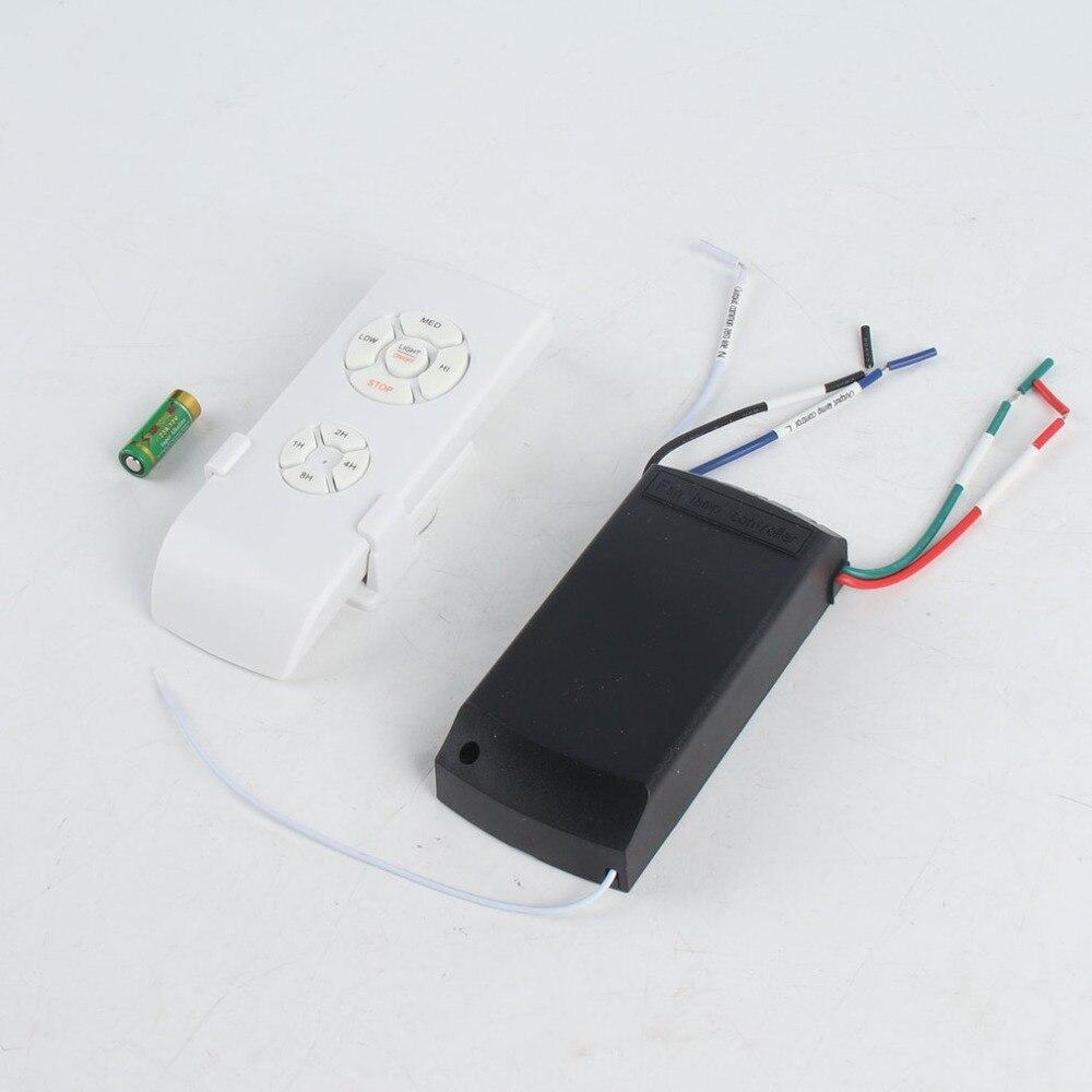 Купить с кэшбэком Adjusted Wind Speed Transmitter Receiver Universal Ceiling Fan Lamp Remote Control Kit 110-240V Timing Wireless Control Switch
