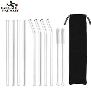 Glass Straws Cleaning-Brush Drinking-Glass-Tube Party-Favors-Supply Reusable Eco-Friendly