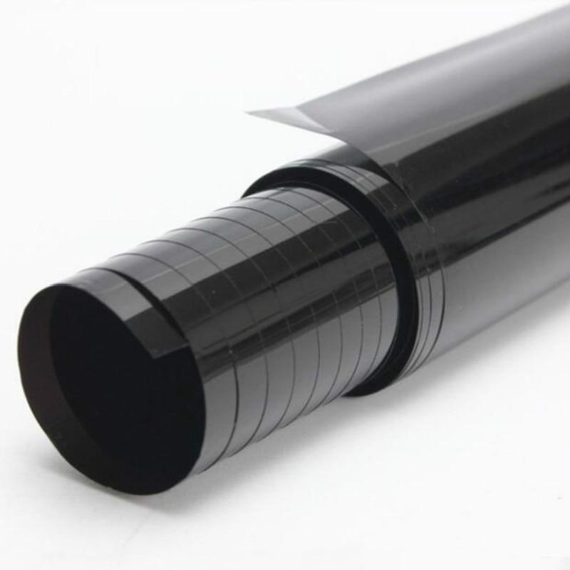 Черная Автомобильная Тонировочная пленка VLT 100x50 см, рулон тонировочной пленки с скребком, автомобильные аксессуары, рулон тонирующей пленк...
