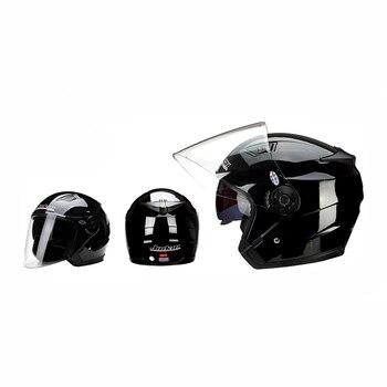 Motorbike Casco Go Kart Scooter Motor Van Motorcycle Dual Lens Vintage Helmets Four Seasons Racing Half Helmets Casque Helmet 9