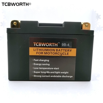 TCBWORTH 9B-4 12V LiFePO4 Motorcycle Starter Battery 9Ah CCA 350A Motorbike Lithium Battery BMS Scooter YT9B-BS YT9B-4 GT9B-4 image