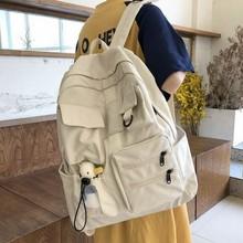 Women Backpack Teenage Girls School Bags Green Soft Multi-pocket Design Campus Student Book Bags for School Teen cheap BOWEEN CN(Origin) Nylon zipper 0 6kg Polyester 40cm Solid bag for school 12cm 34cm teen schoolbag girl school bag for girls backpack