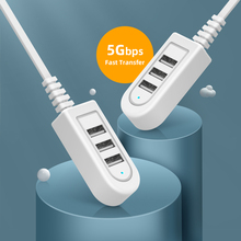 USB HUB Fast Transmission 3 Ports Splitter For Reader Mouse Extension Cable Adapter PC Loptop Expansion