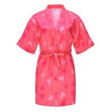 New Kids Robe Children Sleepwear Dressing Gown Summer Kimono Bath Robes Birthday Girl Children Girls Bathrobe Nightgown Robe