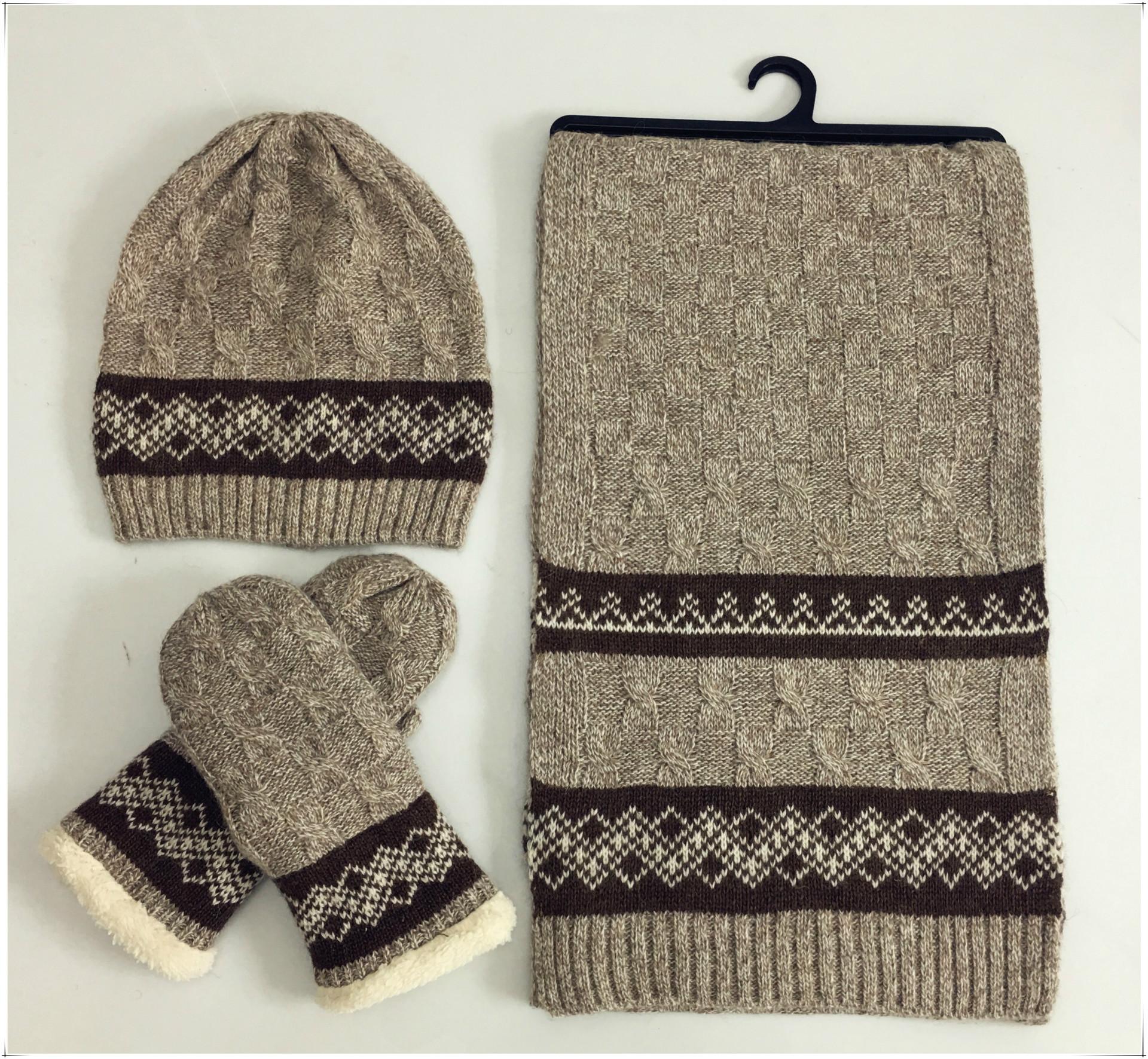 Ensemble bonnet, écharpe, gants 2
