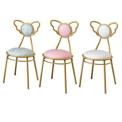 Nordic Iron Art Network Red Dining Chair Ins Home Dressing Makeup Chair Simple Nail Chair Bar Restaurant Backrest Chair