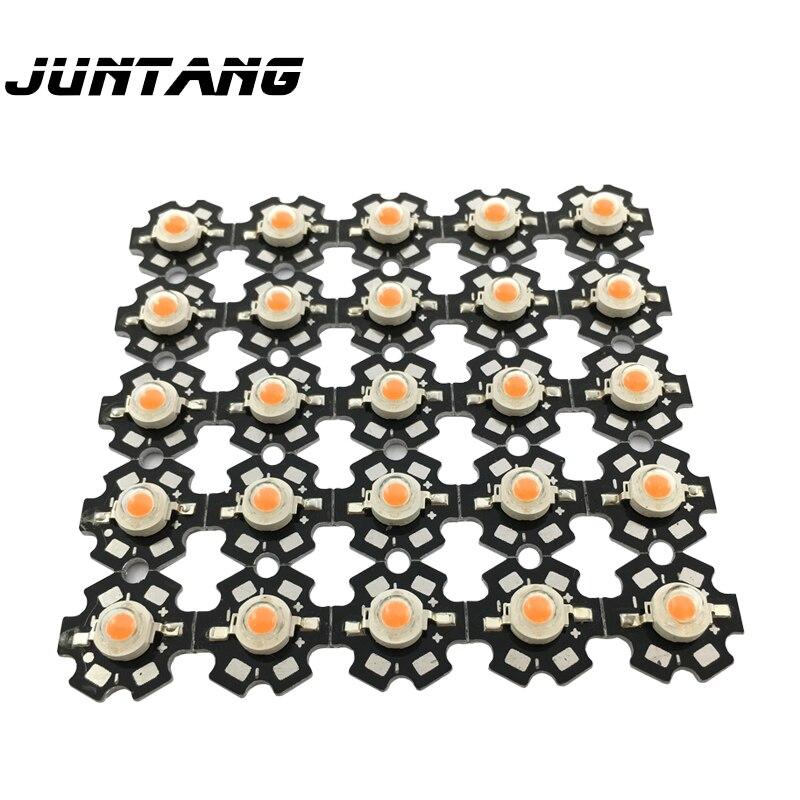 100pcs High Power LED Chip Lamp Beads 1W 3W LED Chip Aluminum Substrate LED Lamp Beads Led Aluminum Plate Bracket Base Radiator