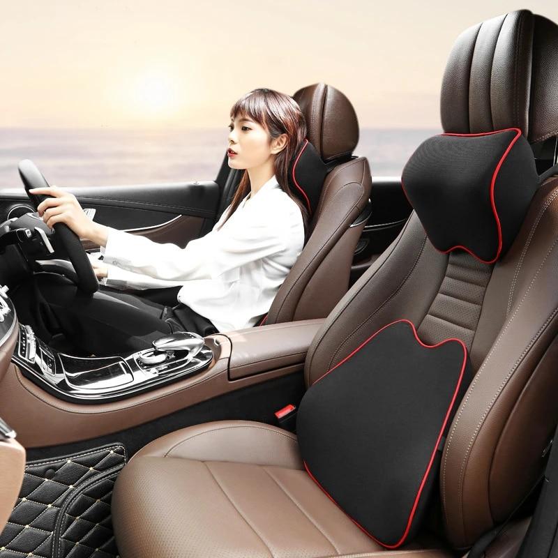 car pillow memory foam lumbar support massage back pillow waist support cushion for auto seat office chair