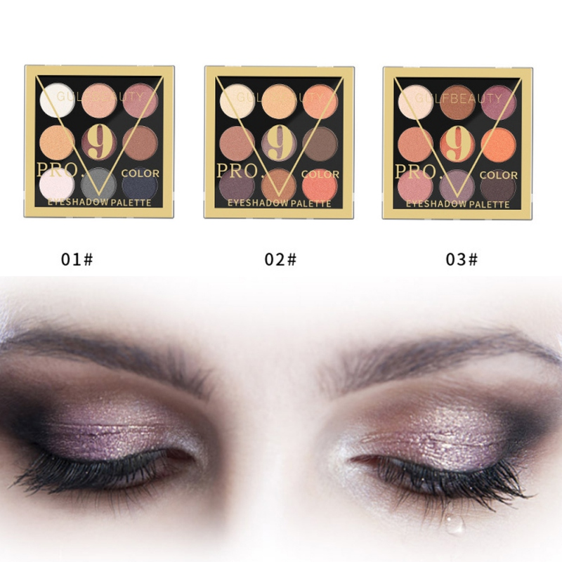 9 Color Artist Eyehadow Palette Shimmer Matte Pigment Earth Color Eye Shadow Kit Nude Makeup Smooth Glitter Eyeshadow Powder