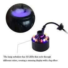 12LED украшение для Хэллоуина, противотуманный светильник, тумана, меняющий цвет, орнамент, дымовая машина, подарок, вечерние, для игр, сада, дома