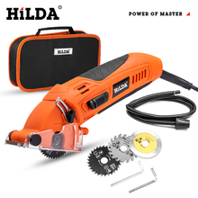 HILDA 400W Electric Saw Mini Electric Circular Saw DIY Multifunctional Electric Saw Power Tools Rotary Tool for Woodworking