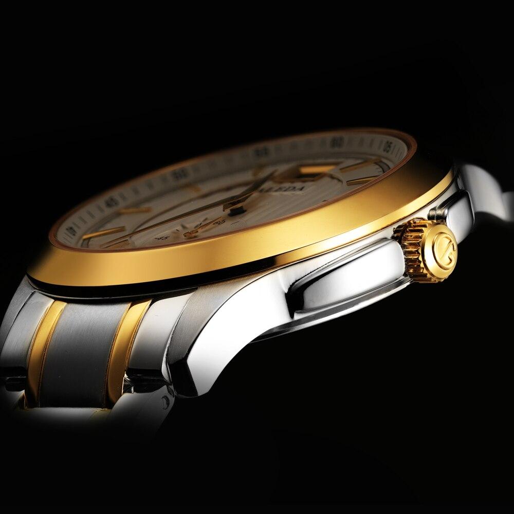 Faleda calendário de negócios quartzo relógio masculino à prova dwaterproof água safira vidro aço inoxidável caso esporte relógio pulso homem relogio masculino - 4