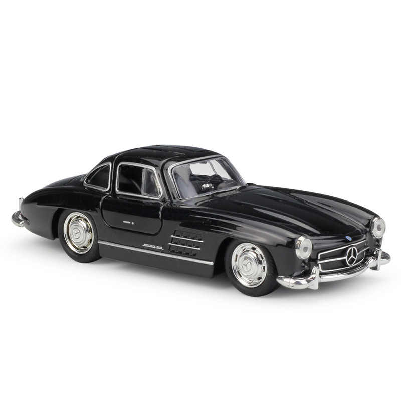 1:36 Welly Mercedes Benz 300SL Hitam Die-Cast Model Mobil