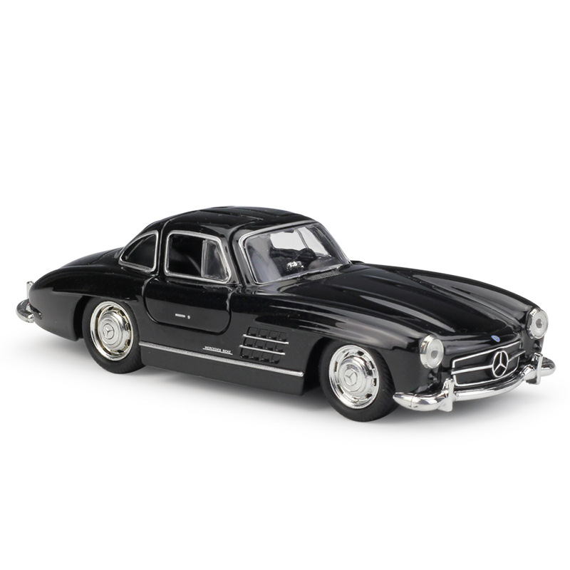 1:36 Welly Mercedes Benz 300SL Black Die-cast Model Car
