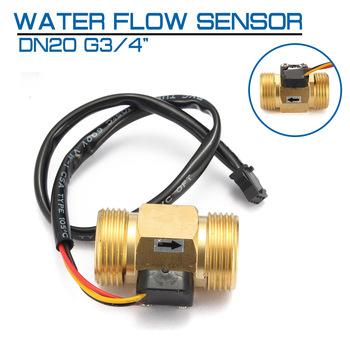 Czujnik przepływu wody DN20 G3 4 #8222 miedziany efekt halla przełącznik przepływu cieczy czujnik przepływu tanie i dobre opinie HKFZ Elektryczne Water Flow Sensor
