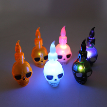 12pcs Halloween Small Night Light LED Electronic Candle Horror Skeleton Desk Lighting Prop  Decor Dropshippping