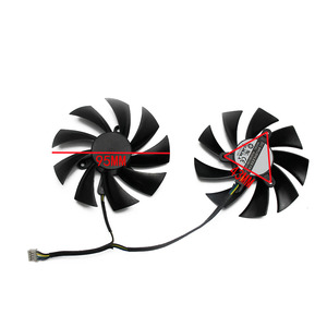 Image 4 - 95mm PLD10015B12H 0.55A RX580 RX590 For POWERCOLOR DATALAND Radeon RX 580 590 Red Devil Golden Sample Graphics Card Cooling Fan