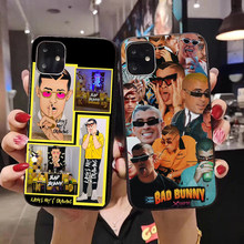 Bad Bunny El Conejo Malo Case for iphone 11 Pro XS Max XR X 7 8 6 6S Plus 5 5S SE Black Soft Bag Phone Cover Coque