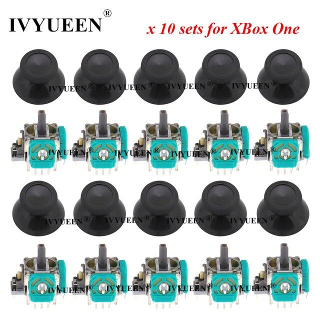 Ivyueen 10セット3ピン3Dアナログジョイスティックスティックセンサーモジュールポテンショメータ & サムスティックキャップマイクロソフトxbox one sコントローラ