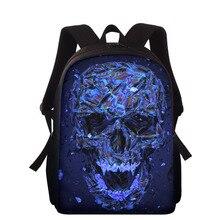 "15"" Kids Backpack Fashion Skull Print Boys Girls Backpacks Mochila Infantil Ralph School Bag Student Book Bags Children Bagpack"