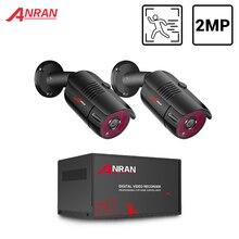 ANRANกล้องวงจรปิดระบบกล้อง 2CH 1080P AHDกล้องชุดH.265 DVRระบบเฝ้าระวังวิดีโอกันน้ำกล้องIP Security IPชุด