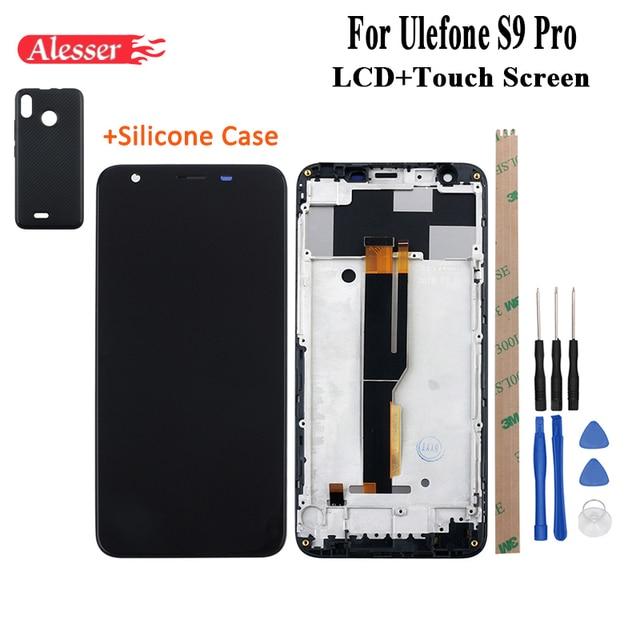 Alesser per Ulefone S9 Pro Display Lcd E di Tocco Riparazione Dello Schermo con Frame + Custodia in Silicone di Ricambio con Strumenti per ulefone S9 Pro