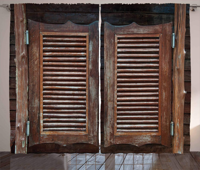 Western Tirai Antik Bertema Tradisional Pedesaan Liar Berayun Kayu Cowboy Bar Saloon Pintu Ruang Tamu Kamar Tidur Jendela Tirai Aliexpress