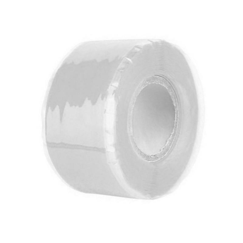 Силиконовая Водонепроницаемая лента для ремонта, склеивающая спасательная самосплавляющаяся проволочная лента, черная прозрачная пленочная лента, клейкая лента, Лидер продаж - Цвет: Белый