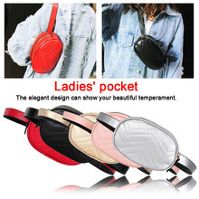 купить Fashion Women waist bag Pure Color Leather Messenger belt bags Chest Bag Crossbody Flap Versatile Chest Handbag Round Belt Bag дешево