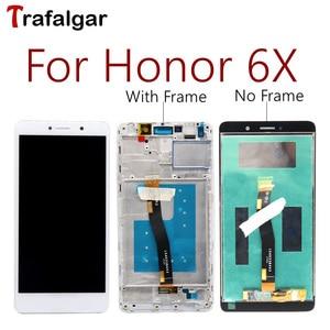 Image 1 - สำหรับHuawei Honor 6X LCD GR5 2017 จอแสดงผลจอสัมผัสBLN L24 AL10 L21 L22 สำหรับHuawei Honor 6XจอLCDกรอบ