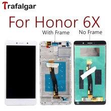 עבור Huawei Honor 6X LCD GR5 2017 תצוגת מסך מגע הרכבה BLN L24 AL10 L21 L22 עבור Huawei Honor 6X LCD עם מסגרת