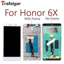 Para huawei honor 6x lcd gr5 2017 display assembléia tela de toque bln l24 al10 l21 l22 para huawei honor 6x lcd com quadro