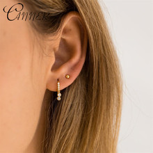 CANNER 925 Sterling Silver Earrings for Women Round Small Hoop Delicate Cubic Zircon Stone Fashion Jewelry