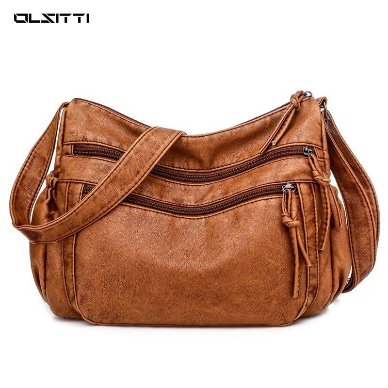 Роскошные повседневные сумки через плечо из воловьей кожи для женщин 2021 брендовая модная мягкая сумка через плечо из натуральной кожи Женс...