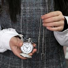 Мужские Ретро винтажные мужские стимпанк часы гладкая поверхность подвеска цепь Классические карманные часы