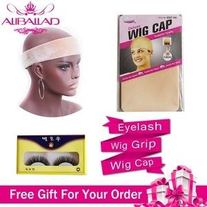 Image 5 - Aliballad حزم موجة عميقة مع إغلاق اللون الطبيعي شعر برازيلي 3/4 حزم مع تمديدات شعر ريمي إغلاق 4x4
