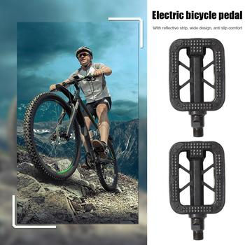 Elektryczne pedały rowerowe uniwersalna stopa Plat pedał MTB kolarstwo rower składany części rowerowe przenośne pyłoszczelne części rowerowe tanie i dobre opinie MOJOYCE CN (pochodzenie) Ultralight pedału Rowery drogowe Electric Bicycle Pedals Z tworzywa sztucznego Folding Iron + plastic