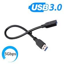 Universa Cable extensor de datos USB 3,0 tipo A, extensión de macho A hembra, Cable de sincronización de datos M/F para ordenador, PC, ratón 0,3/0,6/1,0 M personalizado