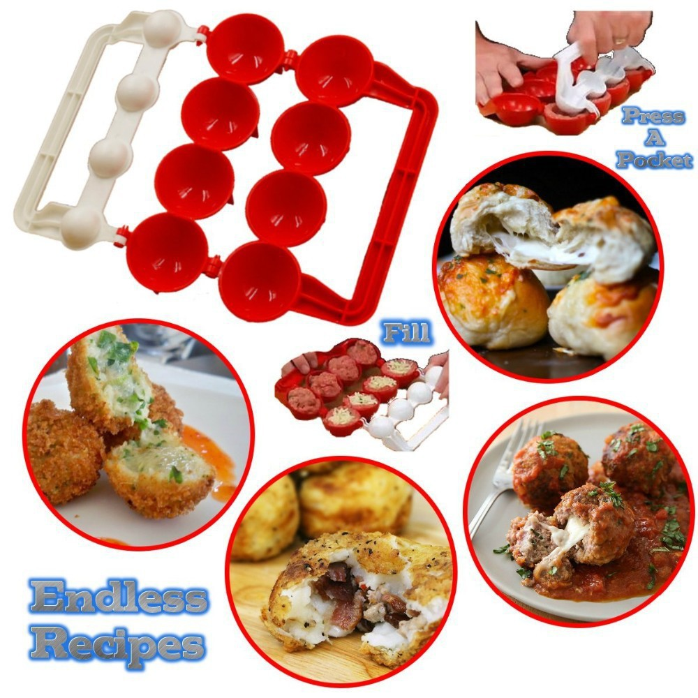 Meatballs Making Tool Mold Fish Balls Kitchen Homemade Stuffed Meatball Maker Home Cooking Makes Perfect Round Meatballs