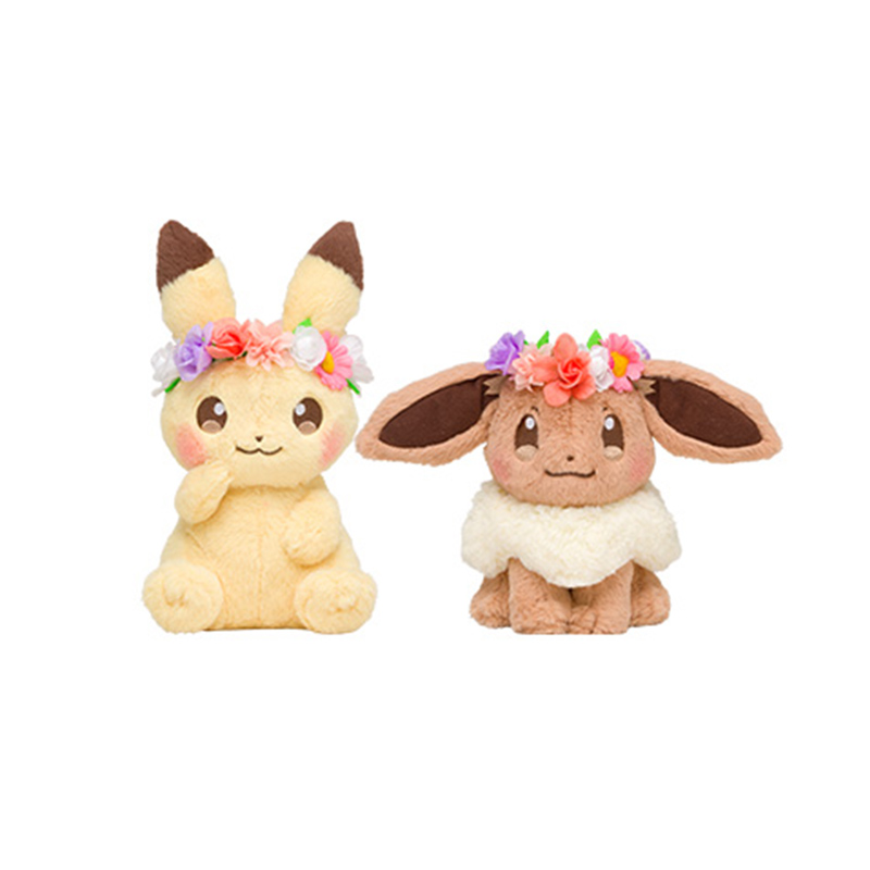 Pikachu Eevee plush cute Easter wreath Spring Festival lovely decoration doll toys for Children girlfriend gift image