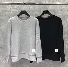 2021 moda tb thom marca primavera outono roupas de algodão sólida jaqueta masculina sweatshirts o-pescoço solto casual casaco esportivo masculino