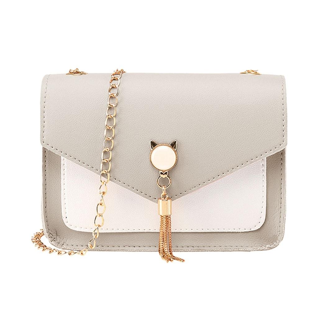 Crossbody Bags For Women Messenger Bags Cover Fringe Shoulder Small Square Bag Messenger Cat Mobile Phone Bag Women Shoulder Bag
