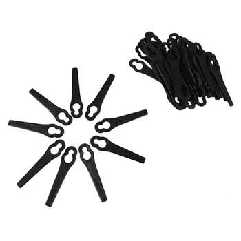 100 Pcs Plastic Replacement Grass Trimmer Blade, Suitable for Blade Cordless Trimmer(Black)