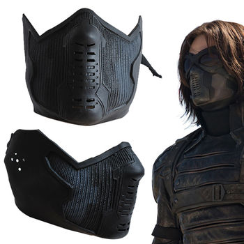 Dropshipping Captain America 2 Cosplay Winter Soldier James Buchanan Bucky Barnes Latex Mask