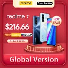 Realme 7 küresel sürüm cep telefonları 30W hızlı şarj akıllı telefon 8GB RAM 128GB ROM cep telefonları helio G95 oyun telefon