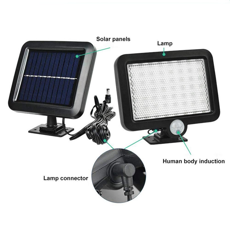 lowest price 42 LED Black White Waterproof Solar Powered Motion Sensor Wall Outdoor Light Garden Security Lamp 3 Different Lighting Modes
